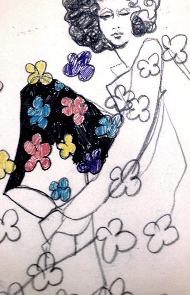 1968 fashion doodle