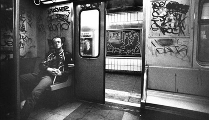 Keith haring artist of new york city subways jeanmessnerart this was late 70s early 80s i feel so lucky to have been witness to the emergence of an artist who was really exploring the canvases of the city publicscrutiny Choice Image